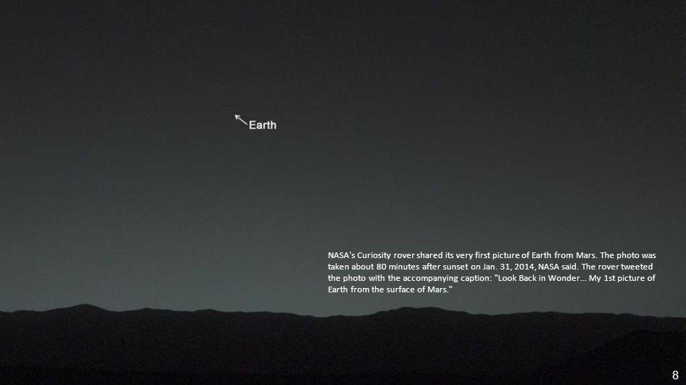 NASA s Curiosity rover shared its very first picture of Earth from Mars.