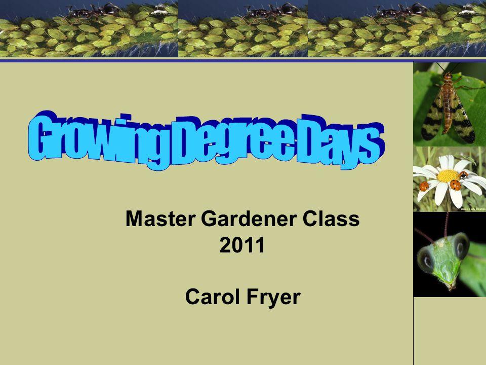 Master Gardener Class 2011 Carol Fryer
