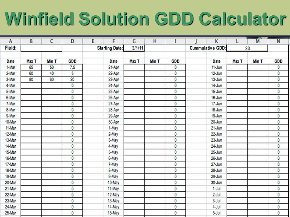 Winfield Solution GDD Calculator