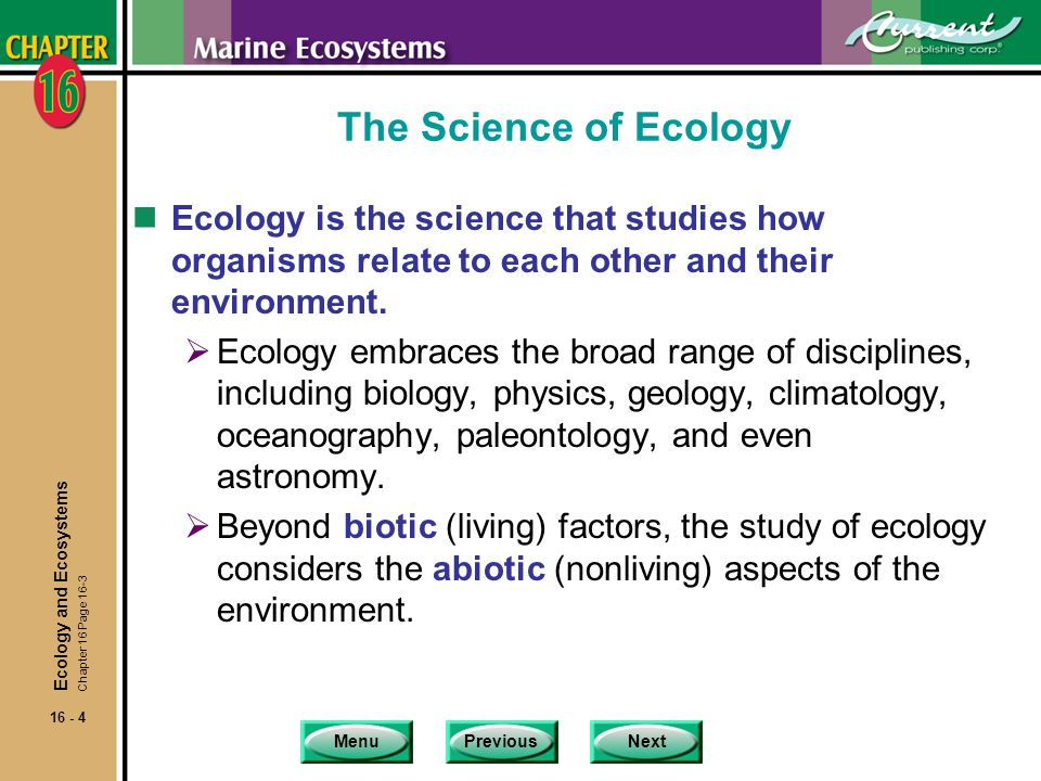 MenuPreviousNext 16 - 45 Estuaries nEstuaries contribute to the productivity of adjacent marine ecosystems in at least two ways.
