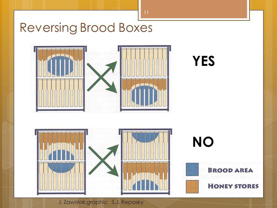 Reversing Brood Boxes YES NO J. Zawislak graphic S.J. Repasky 11