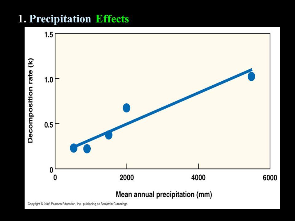 1. Precipitation Effects