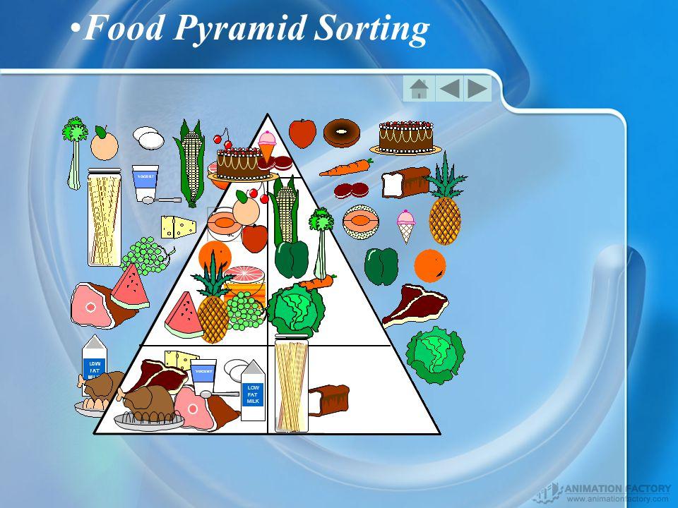 Food Pyramid Sorting LOW FAT MILK YOGURT