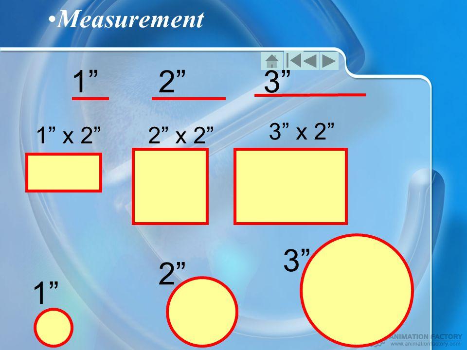 Measurement 1 2 3 1 x 2 2 x 2 3 x 2 1 2 3
