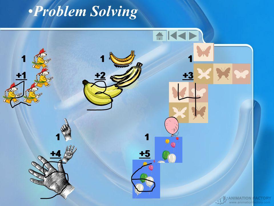 Problem Solving 1 +1 1 +2 1 +3 1 +4 1 +5 1 +1 1 +2 1 +3 1 +4 1 +5 1 +1 1 +2 1 +3 1 +4 1 +5