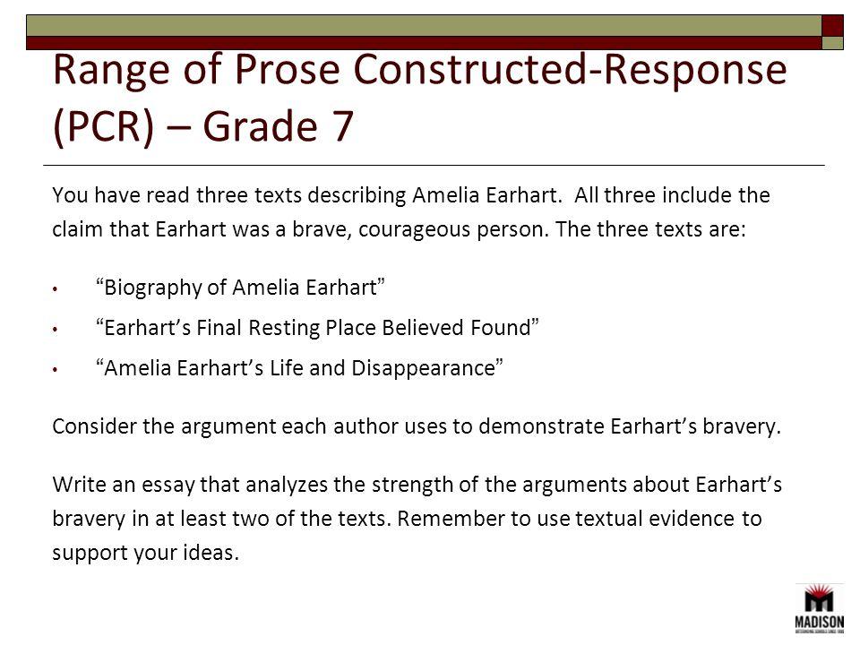 You have read three texts describing Amelia Earhart.