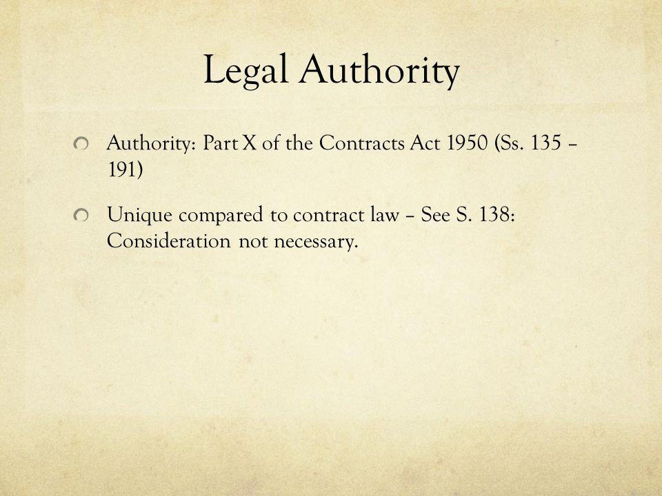 Estoppel A person cannot be bound by a contract made on his behalf without his authority.