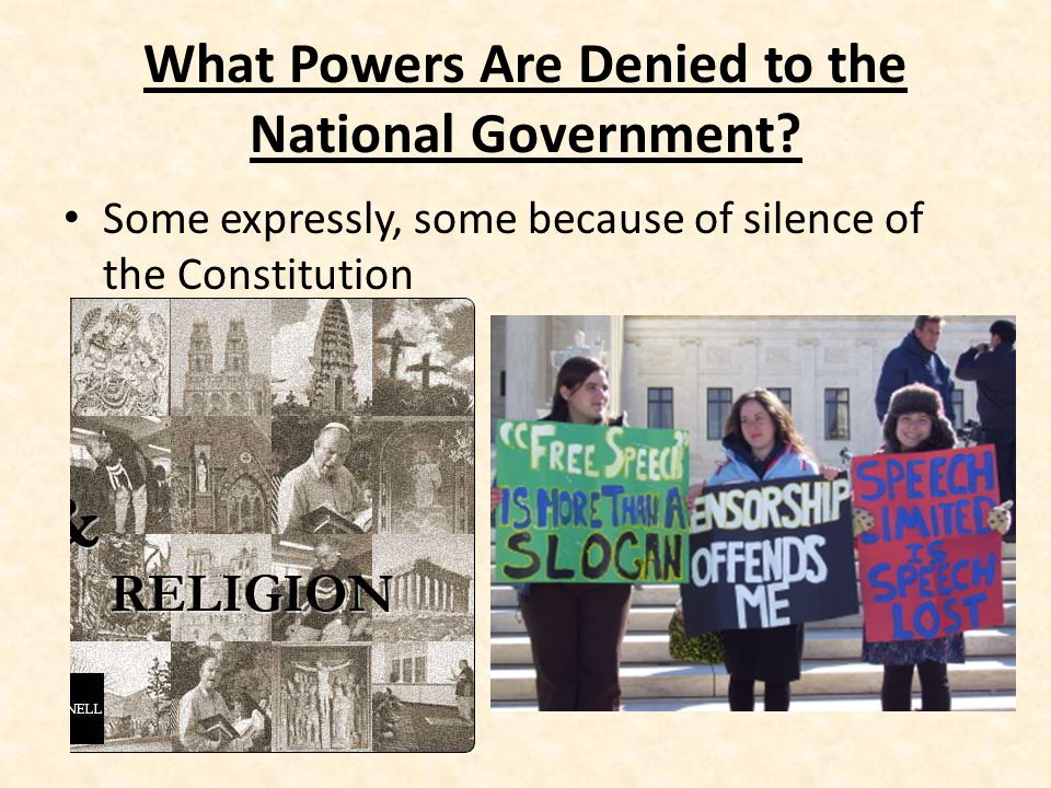 What Powers Are Denied to the National Government.