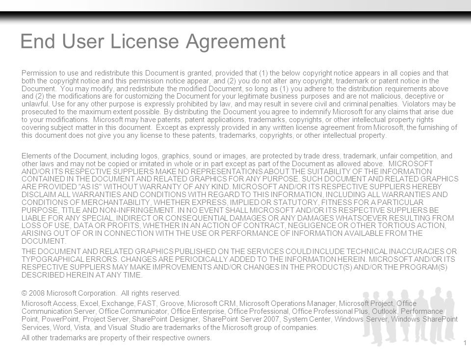 End User License Agreement Permission to use and redistribute this Document is granted, provided that (1) the below copyright notice appears in all co