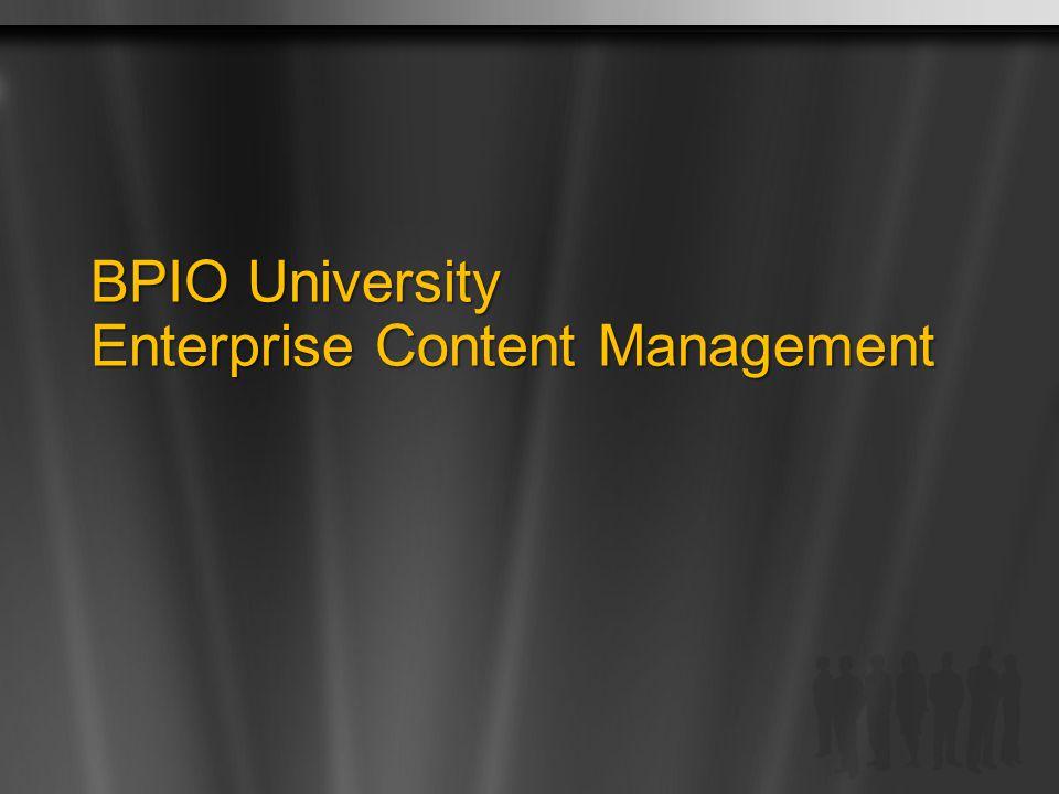 BPIO University Enterprise Content Management