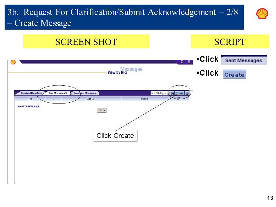 13 SCREEN SHOTSCRIPT  Click 3b.