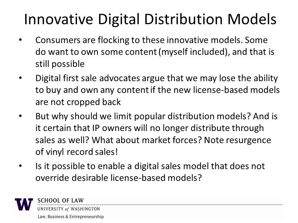 Innovative Digital Distribution Models Consumers are flocking to these innovative models.