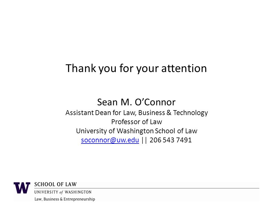 Thank you for your attention Sean M.
