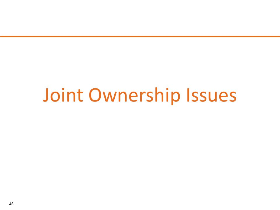 46 Joint Ownership Issues
