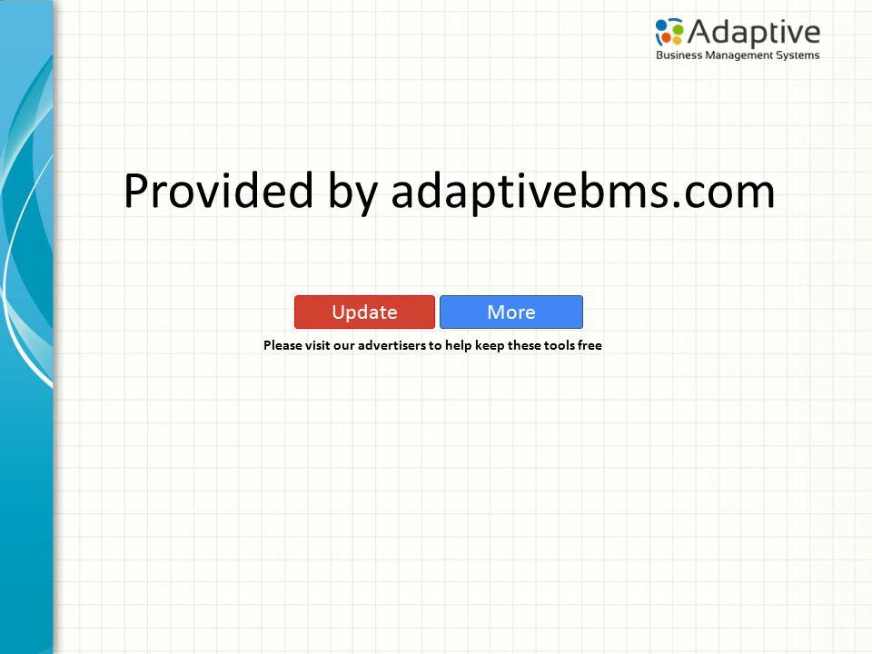 Copyright (C) 2011 Adaptive Business Management Systems Ltd.