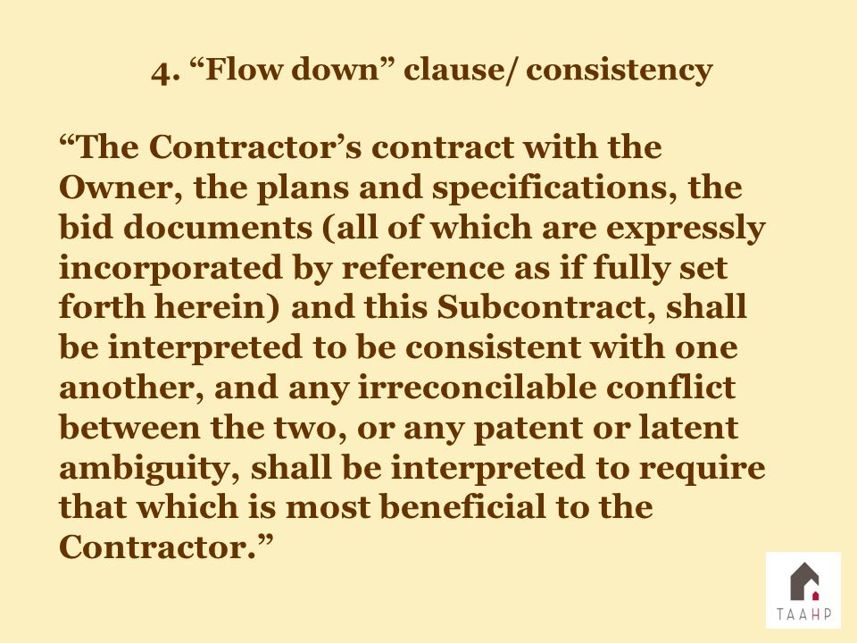 """""""The Contractor's contract with the Owner, the plans and specifications, the bid documents (all of which are expressly incorporated by reference as if"""