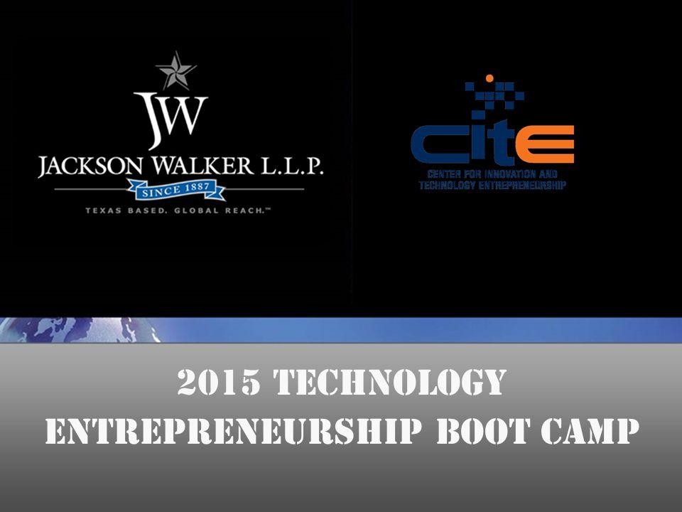 2015 Technology Entrepreneurship Boot Camp