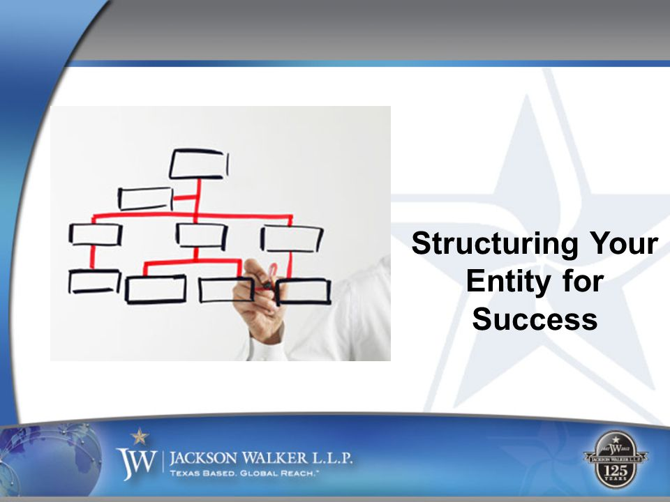 Structuring Your Entity for Success