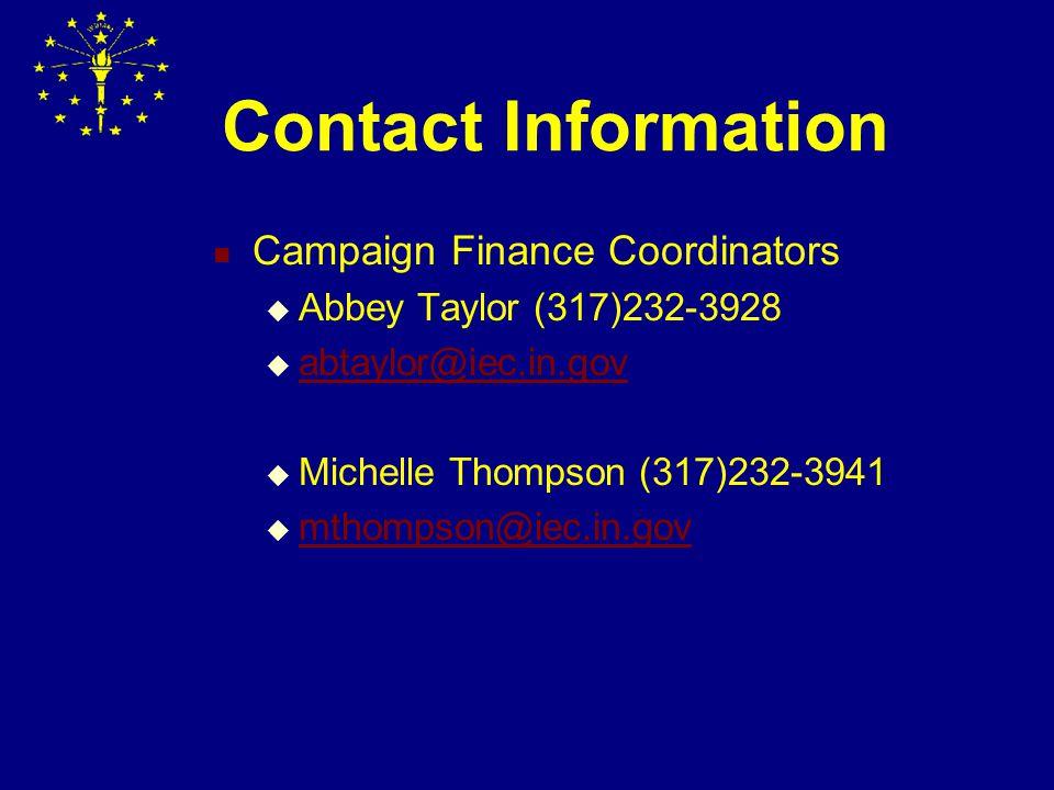 Campaign Finance Administration & Enforcement