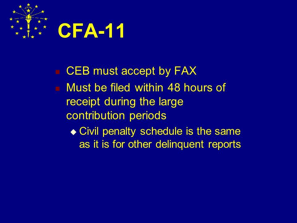 CFA-4 Delinquency Notice (Form 1) Annual Report (Jan.