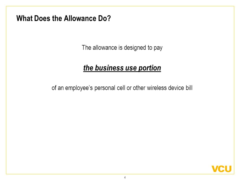 4 What Does the Allowance Do.