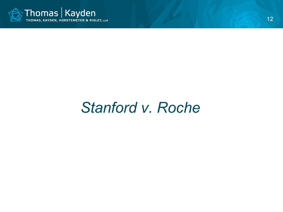 12 Stanford v. Roche