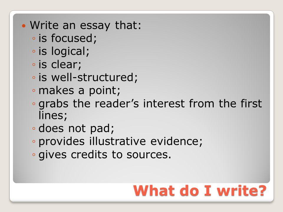 What do I write.