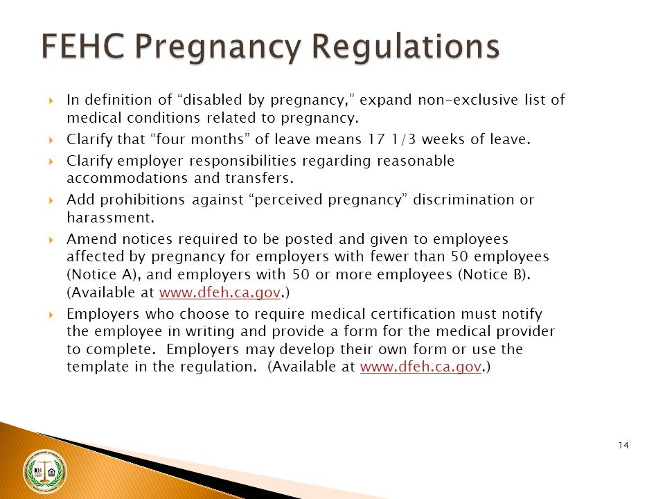 " In definition of ""disabled by pregnancy,"" expand non-exclusive list of medical conditions related to pregnancy.  Clarify that ""four months"" of leav"
