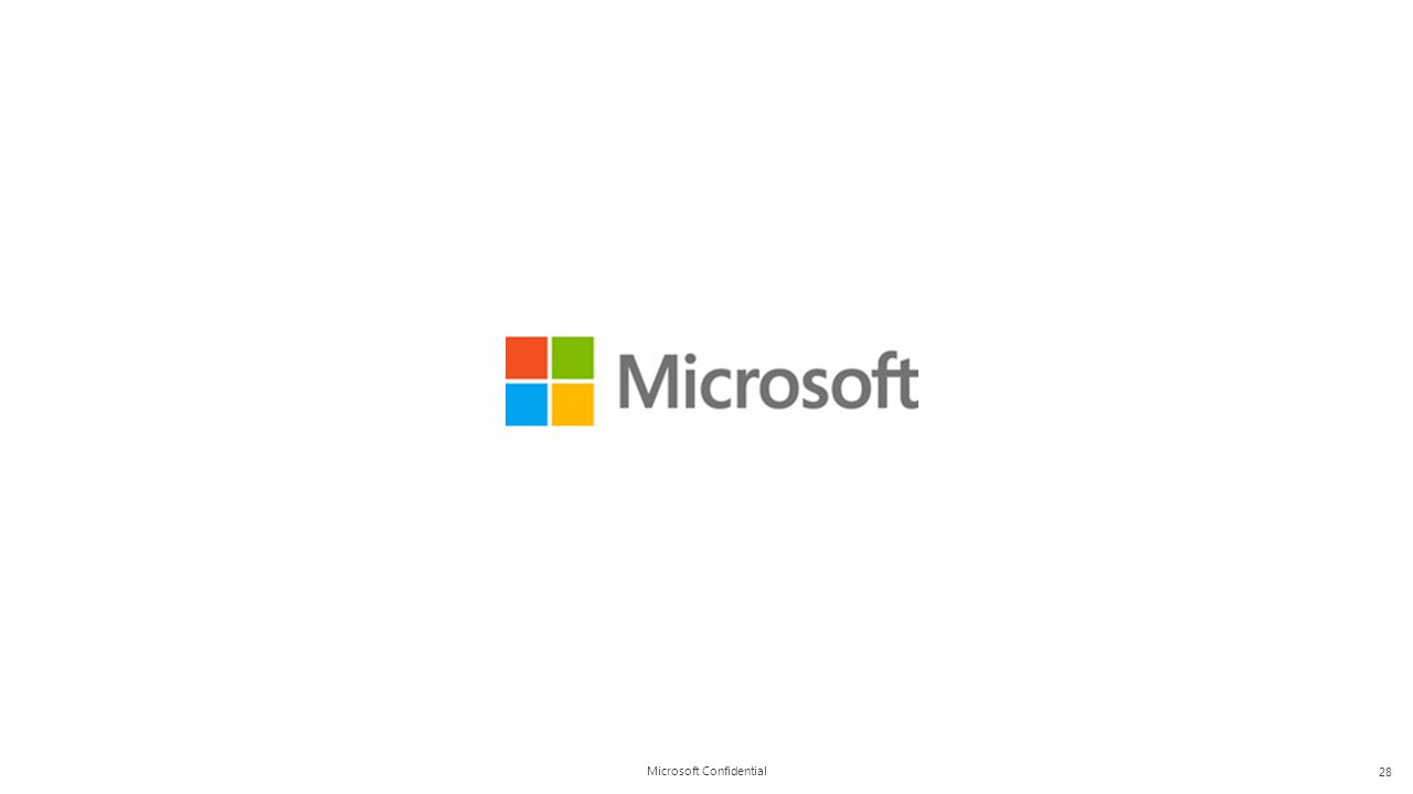 Microsoft Confidential 28