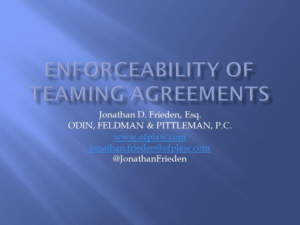 Jonathan D.Frieden, Esq. ODIN, FELDMAN & PITTLEMAN, P.C.