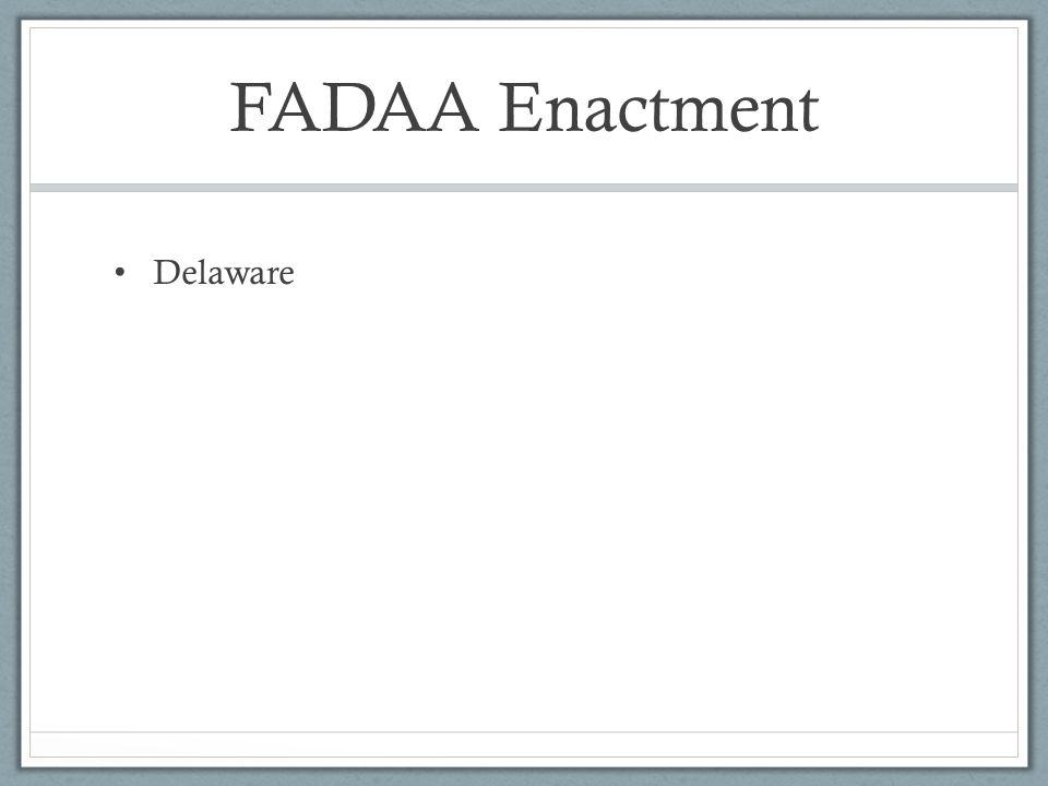 FADAA Enactment Delaware