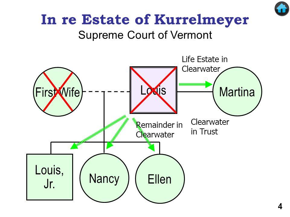 In re Estate of Kurrelmeyer Louis First Wife Nancy Louis, Jr.