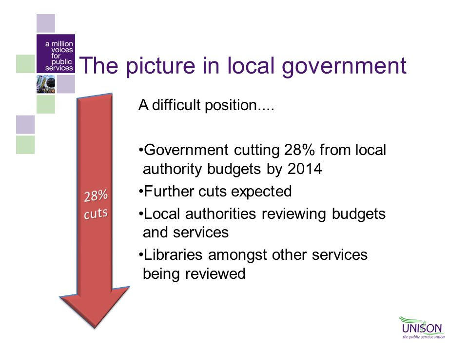 The picture in local government A difficult position....