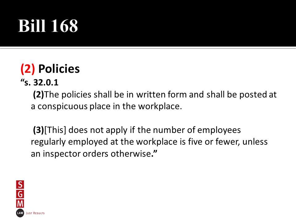 (2) Policies s.