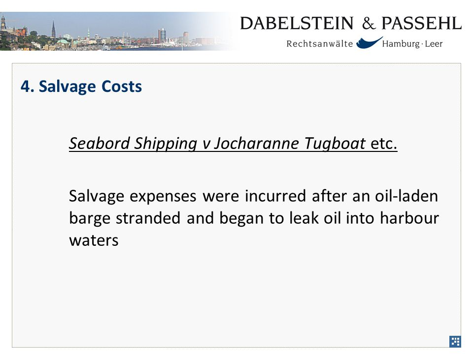 4. Salvage Costs Seabord Shipping v Jocharanne Tugboat etc.