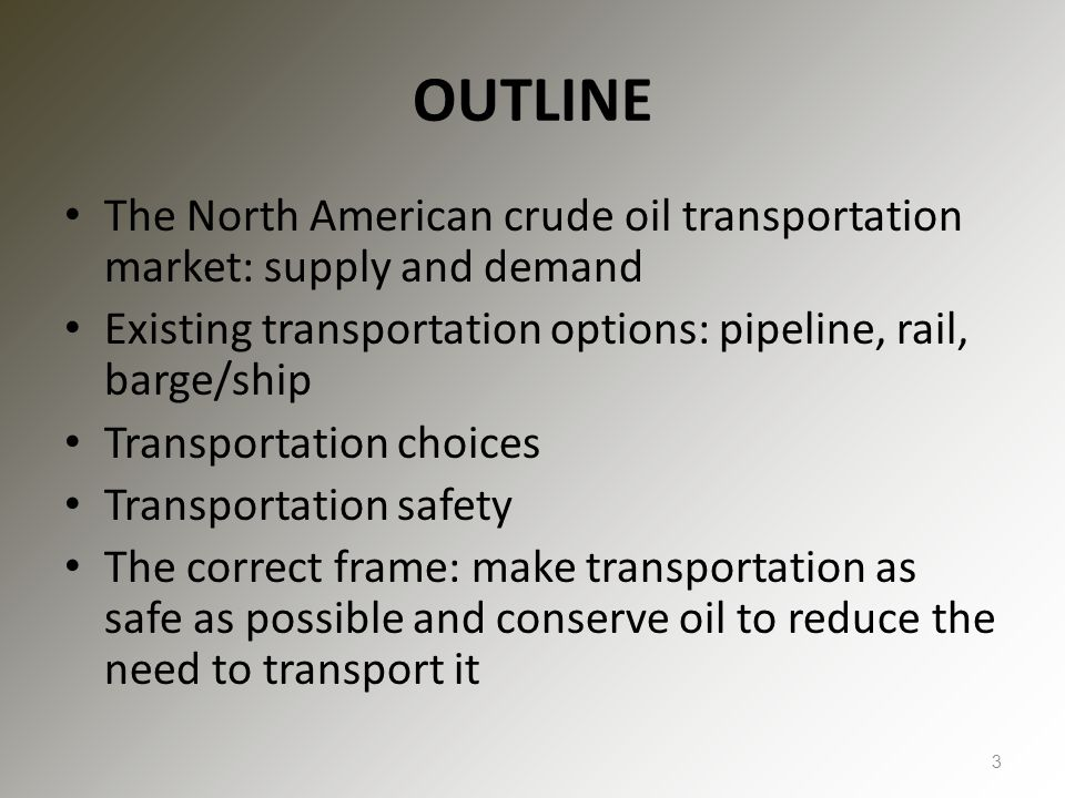 THE RAIL VERSUS PIPELINE FRAMING Crude oil is moving by rail because there is insufficient pipeline capacity Pipeline transportation is cheaper, therefore if more pipelines are built shippers will switch to pipelines and railroads will become less congested Pipelines are safer than railroads Therefore, citizens should support pipelines 4