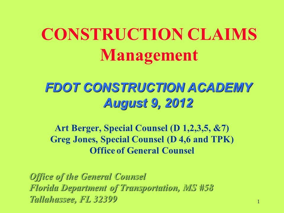5-12.2.1 Claims For Extra Work G If the Contractor fails to submit a certificate of claim as described in 5-12.9, the Department will so notify the Contractor in writing.
