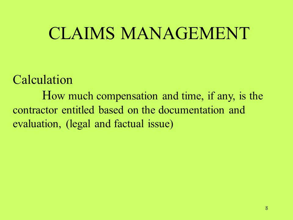 Definitions Contract Claim (Claim).