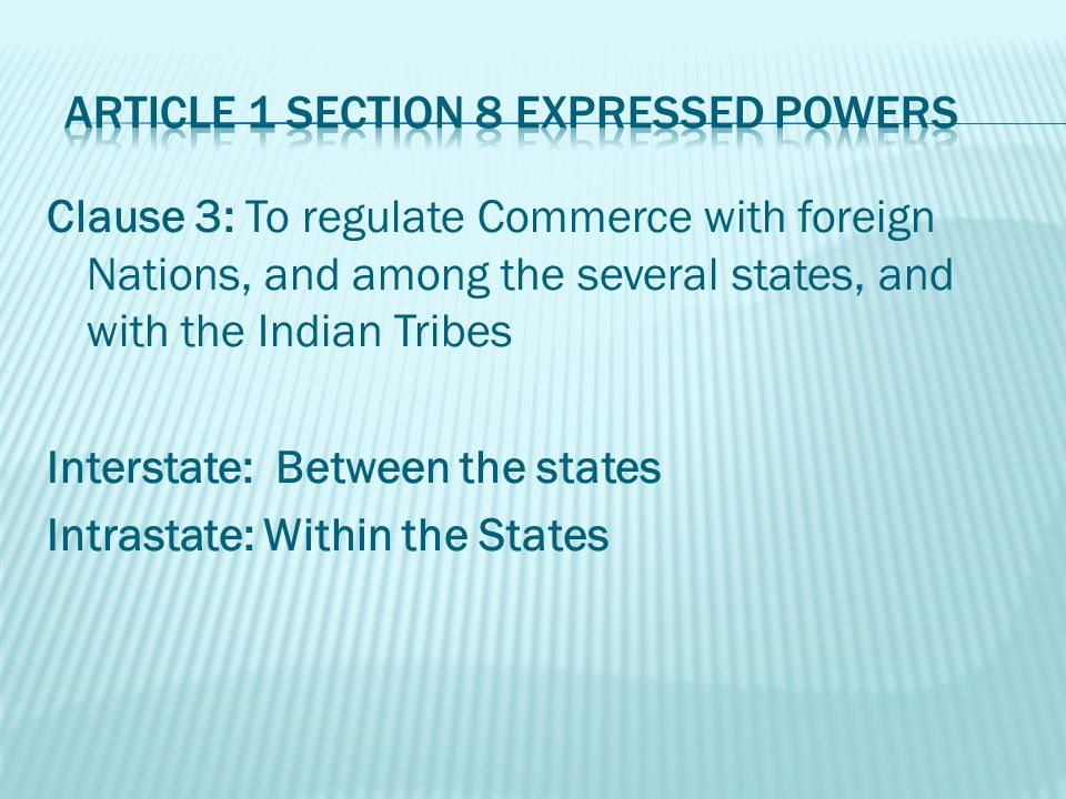 Clause 4: To establish an uniform Rule of Naturalization, and uniform Laws on the subject of Bankruptcies throughout the United States; Bankruptcy – a proceeding in which a persons assets are distributed to whom a debt is owed.