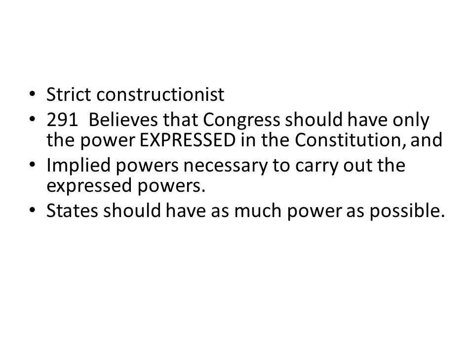 Concepts What are the differences among Congress' expressed powers, implied powers and inherent powers.