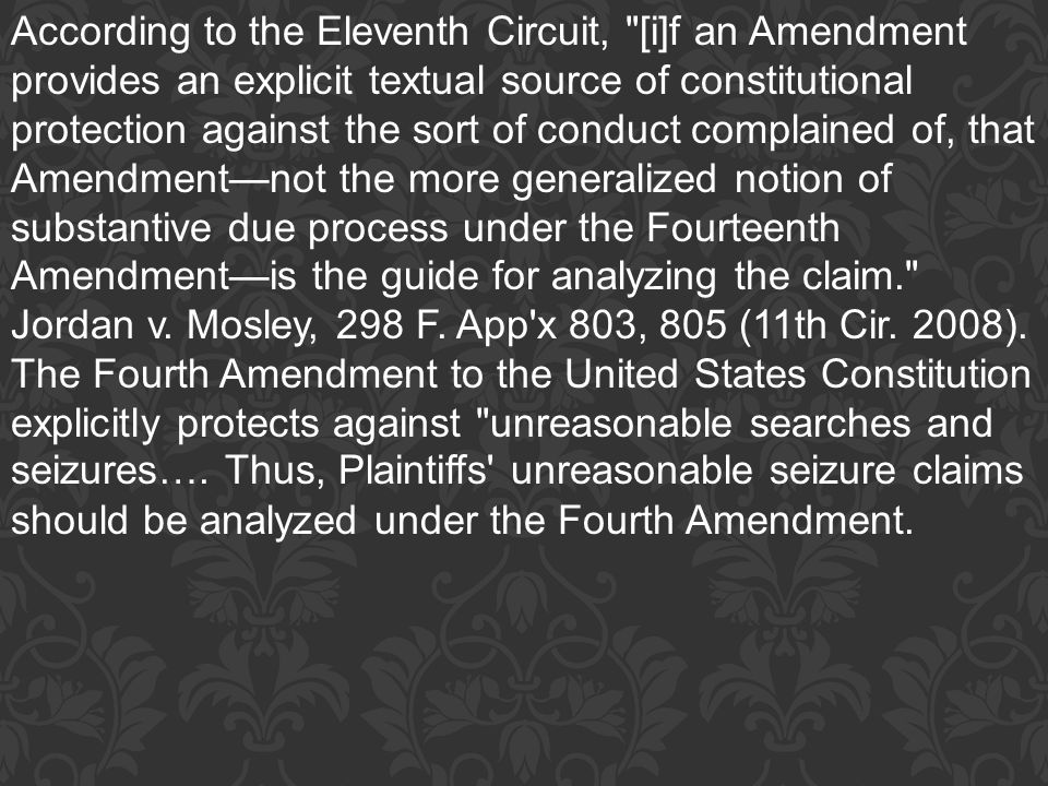 According to the Eleventh Circuit,