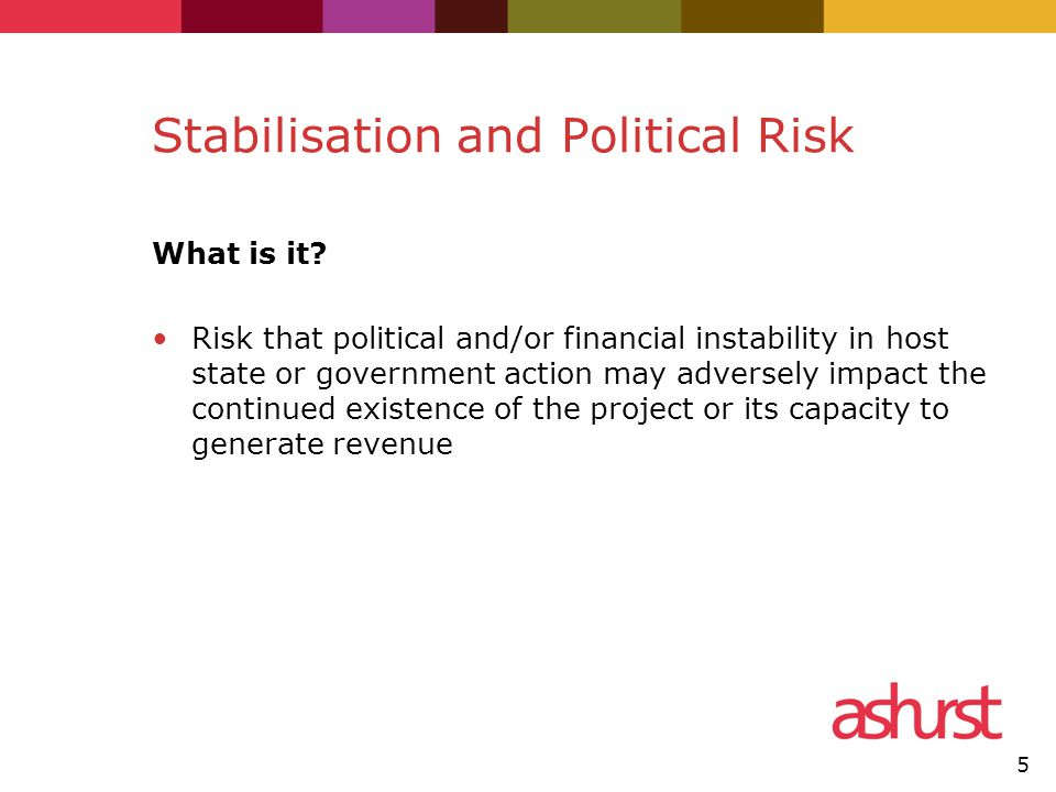 Stabilisation and Political Risk What is it.