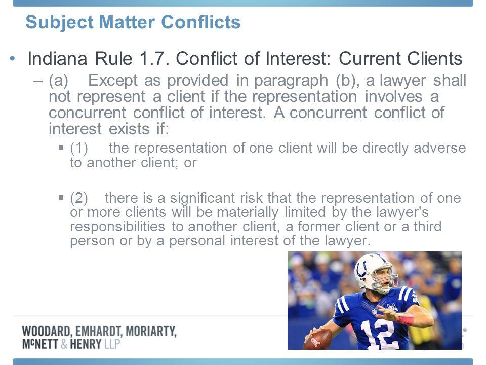 Indiana Rule 1.7.