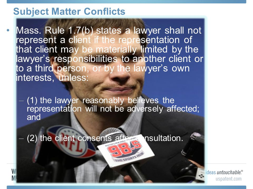 Subject Matter Conflicts Mass.