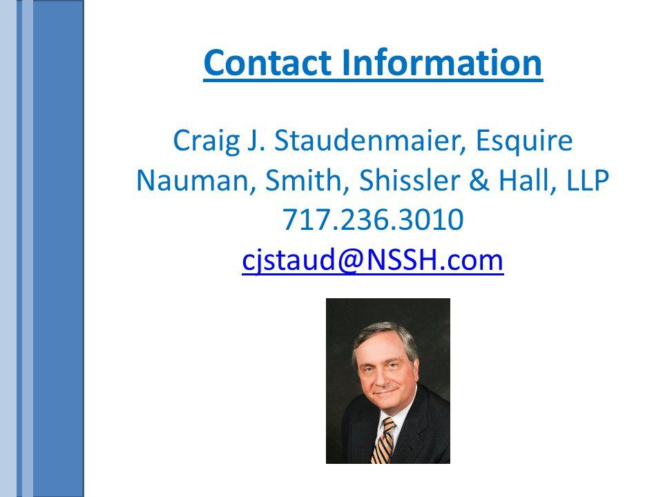 Contact Information Craig J.