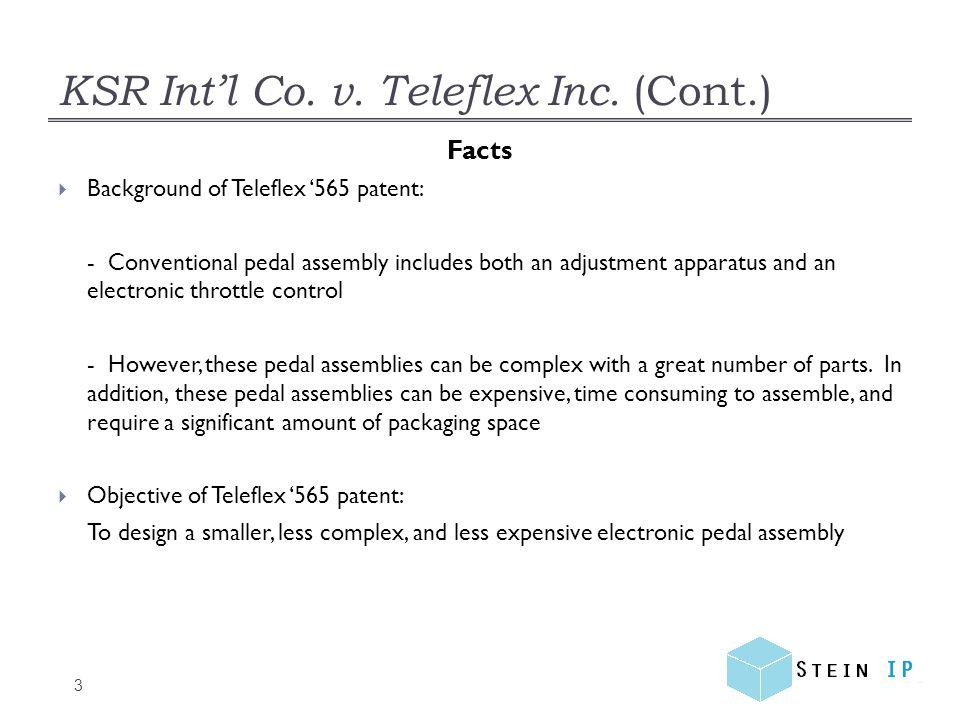KSR Int'l Co.v. Teleflex Inc. (Cont.) 4 Prior Art  Asano, U.S.