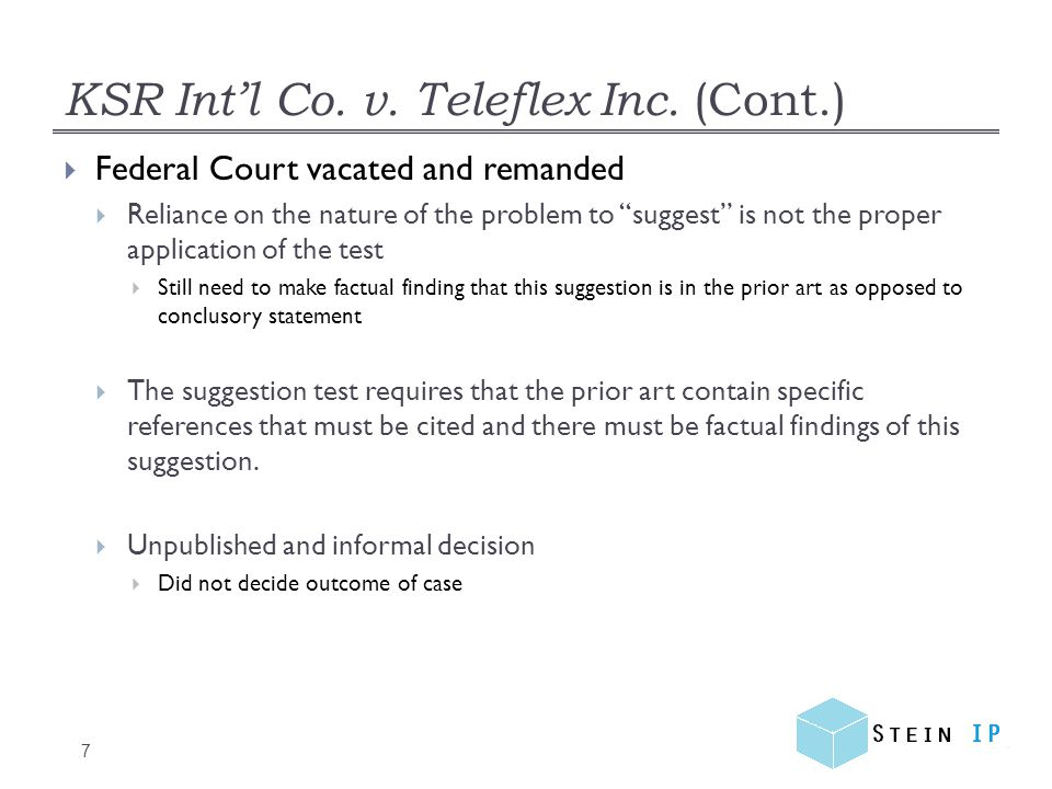 Rebutting Prima Facie Case (Cont.) 28  The more potential solutions, the less likely the attempt will be obvious  Takeda Chemical Industries Ltd.