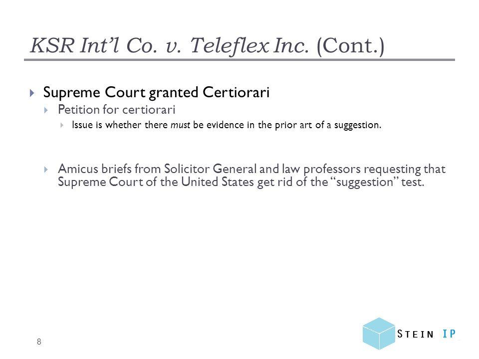 KSR Int'l Co.v. Teleflex Inc.