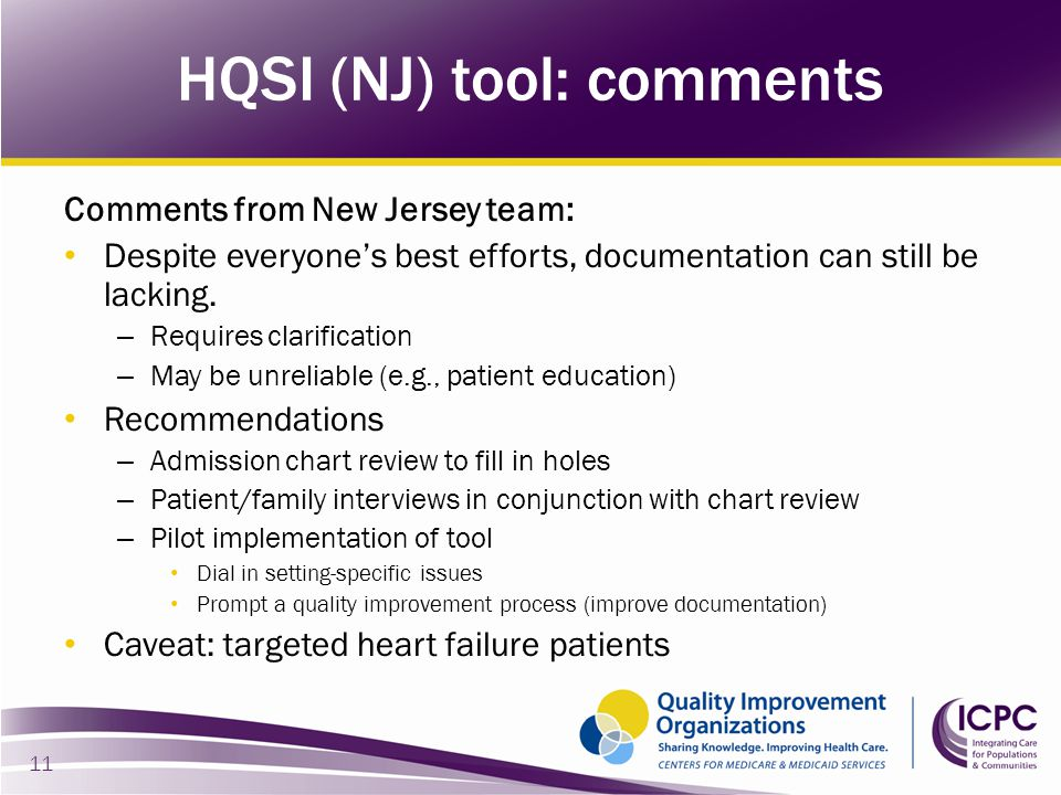 Comments from New Jersey team: Despite everyone's best efforts, documentation can still be lacking. – Requires clarification – May be unreliable (e.g.