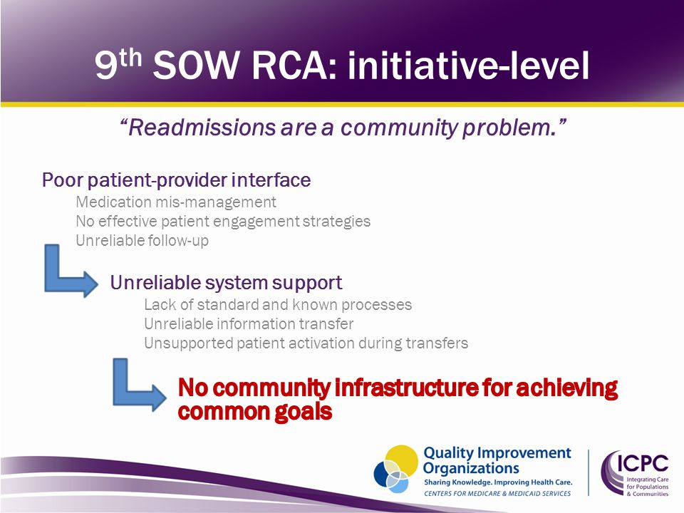 9 th SOW RCA: initiative-level